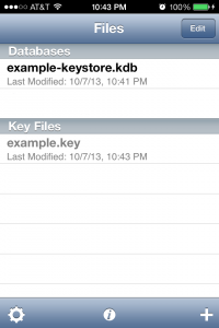 Files: Databases and Key Files