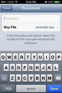 Password and Key File